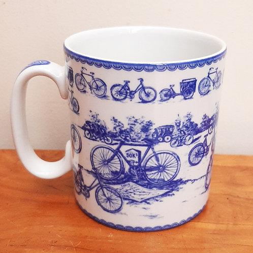 Spode Blue Room Collection mug Vintage Cycling