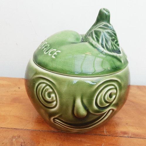 SylvaC Face Pot Apple Saucer 4549