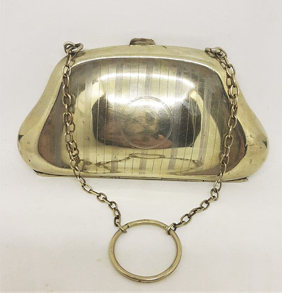 1920's Silverplated Dance Purse Boots PDC