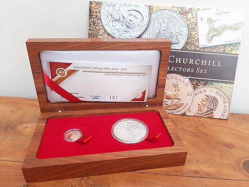 2015 Winston Churchill 22ct Gold Krugerrand & Medallion Set Ltd Edt
