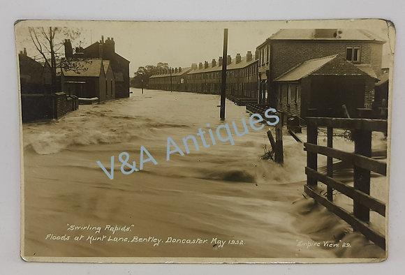 RP Postcard Bentley Floods 1932 Hunt Lane Empire