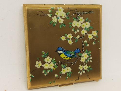 KIGU Karette Powder Compact Bluetit Blossom Tree