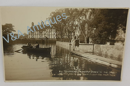 Original Postcard Arksey During the 1932 Floods
