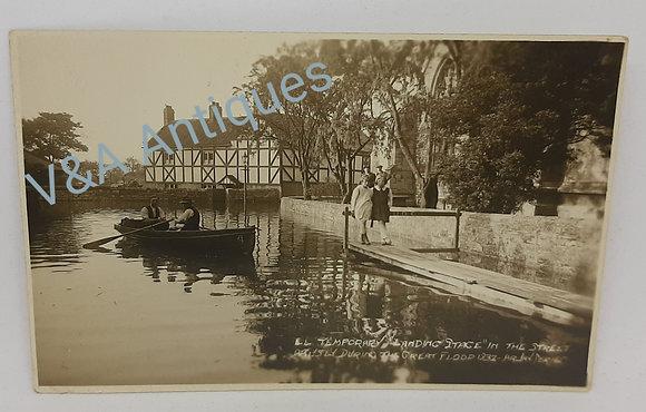Original Postcard Arksey During the 1932 Floods