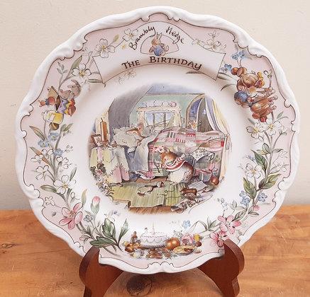"Royal Doulton Brambly Hedge The Birthday Plate 8.25"""