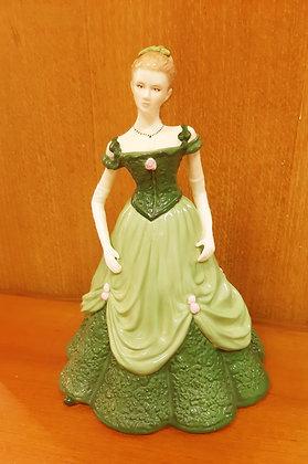 Royal Worcester Figurine SUSANNAH Green Dress Boxed