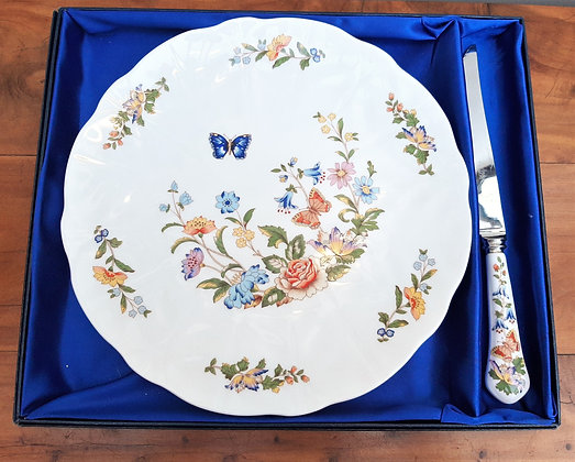 Aynsley Cottage Garden Cake plate & Slice