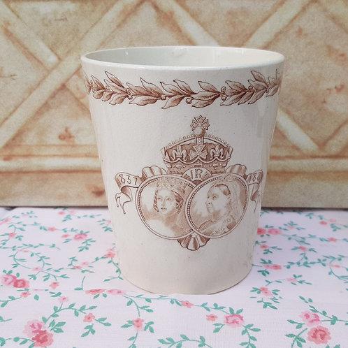 Doulton Burslem Queen Victoria Jubilee Beaker