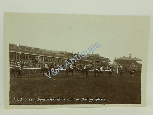 RP Postcard Doncaster Racecourse During the Races Scriven