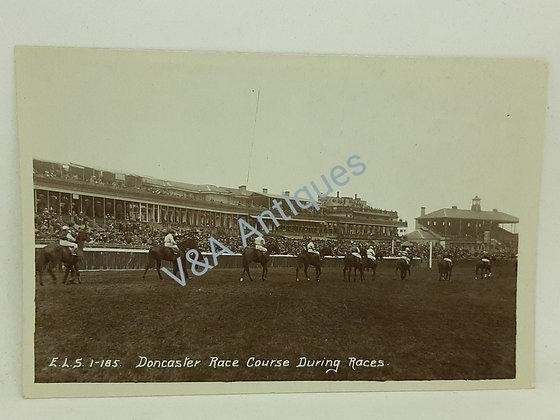 RP Postcard Doncaster Racecourse During the Races Scriven