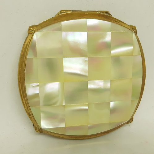 Stratton Mother of Pearl Cushion Solid Powder Compact