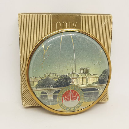 Coty Paris Exposition 1937 Powder Compact Boxed with Original Powder
