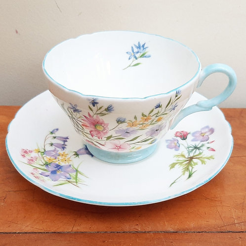 Shelley Wild Flowers 13668 Tea Cup & Saucer