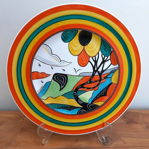 """Deco Phil Worsdale Painted Plate Bizarre Style 10.5"""" """"Balloon Tree"""""""