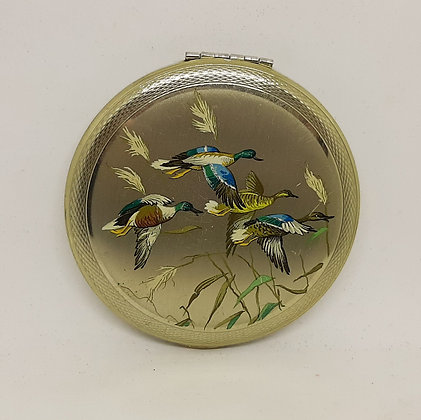 Kigu Silver Plated Compact Flying Ducks