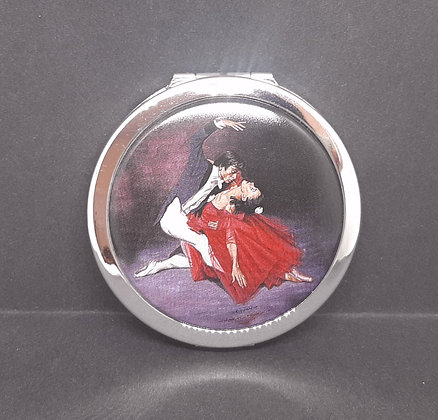 Modern Stratton O/H Silver Ballet Compact Unused
