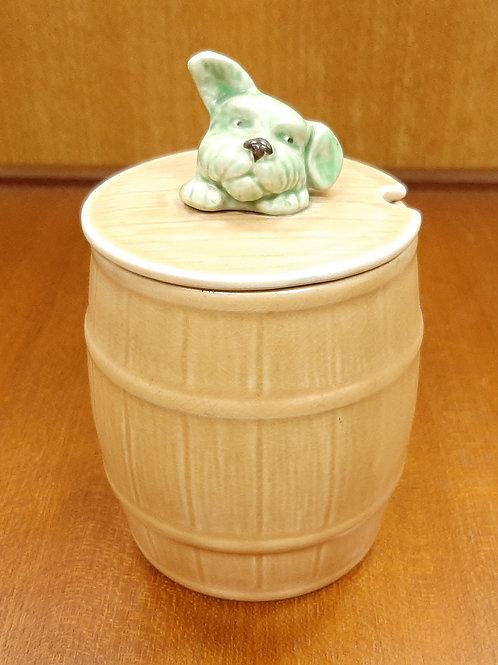 SylvaC Dog Head Barrel Honey Pot 1849