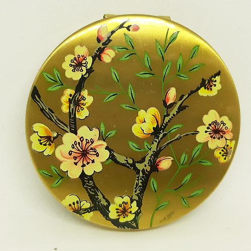 Vintage Regent of London Apple Blossom Powder Compact