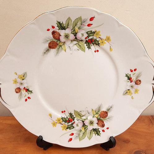 """Duchess China Cake Plate """"Winter"""""""