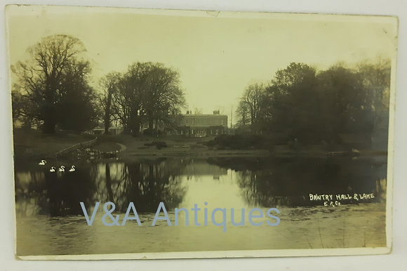Early RP Postcard Bawtry Hall & Lake Doncaster 1910