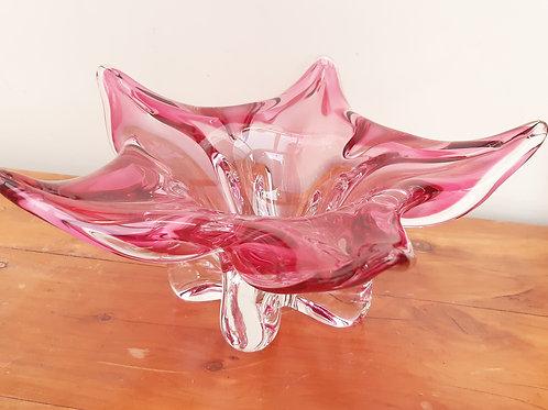 Chribska Czech Pink Starflower Bowl