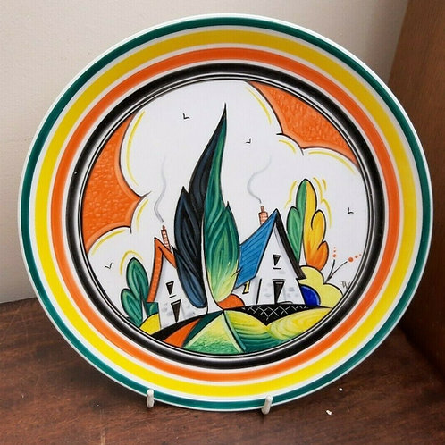 "Deco Bizarre Style Plate Worsdale 9"" ""Neighbours"""