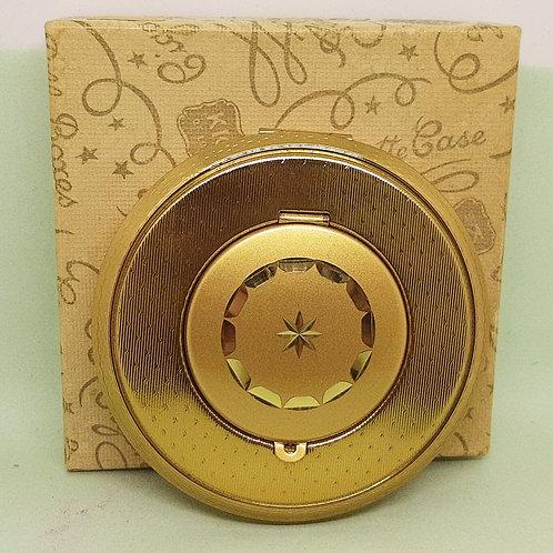 Kigu Goldtone Photo Locket Convertible Compact Boxed