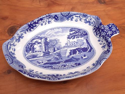 Spode Blue Italian Leaf Shape Dish