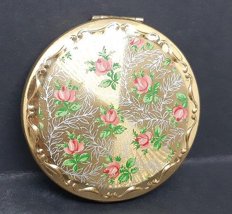 Kigu Compact Pink Rose & Silver Ferns