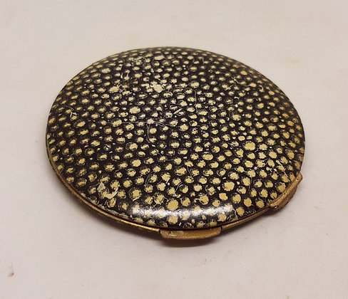 Unusual Early Stratton Non-Spill Faux Shagreen Compact