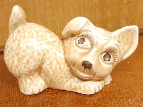 SylvaC Puppy Dog Playing 1646 Beige