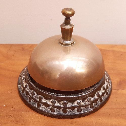 Antique Brass & Cast Iron Hotel Reception Counter Bell