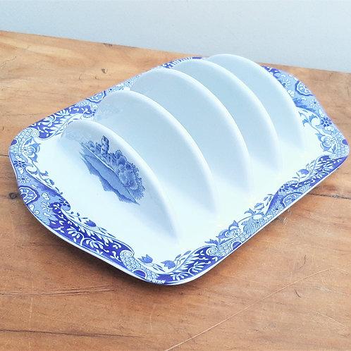 Spode Blue Italian 4 Slice Toast Rack