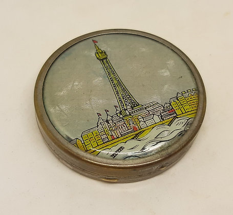 1930s Deco Blackpool Tower Foil Compact
