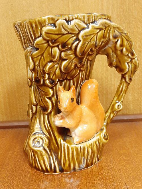 SylvaC 4241 Woodland Jug/Vase Squirrel in a Tree