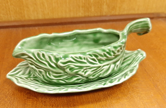 SylvaC Green Glazed Mayonnaise Jug & Stand 5148