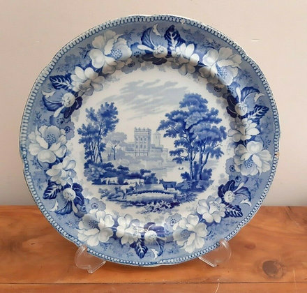 John Rogers & Son Pearlware Plate c1815 Unidentified Views
