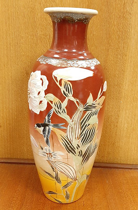 Lovely Japanese Satsuma Vase Ombre Birds