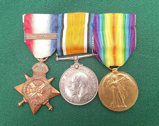 Original WW1 Full Size Medal Set Driver R.H.A