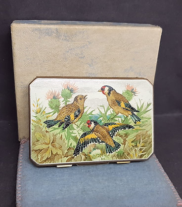 1940s Stratton Slab Compact Goldfinch & Chaffinch Complete