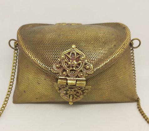 Vintage Pierced Brass Pillow Purse/Bag
