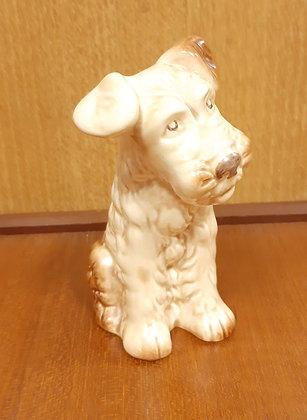 SylvaC Terrier Figurine 1378 Beige & Brown