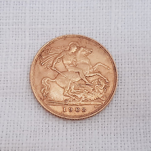 Edward VII Gold Half Sovereign 1908