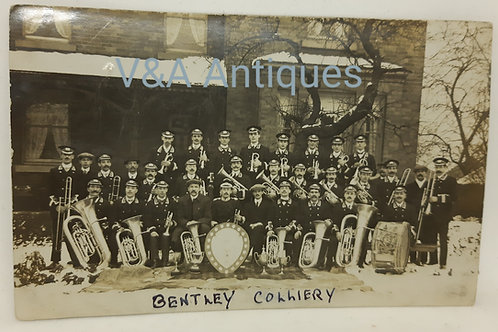 Bentley Colliery Band Group RP c1910 Doncaster
