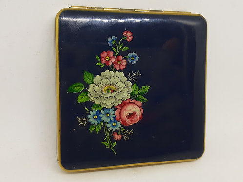 Kigu Square Compact Navy blue mixed floral spray
