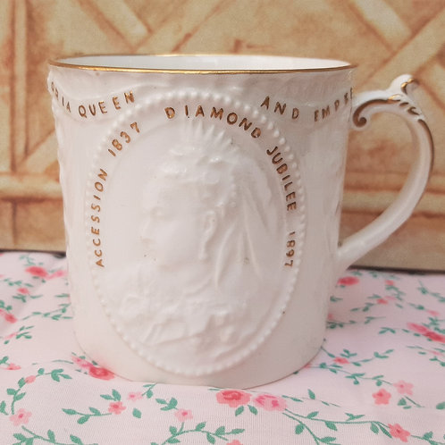 Copelands China Queen Victoria Jubilee Embossed Mug