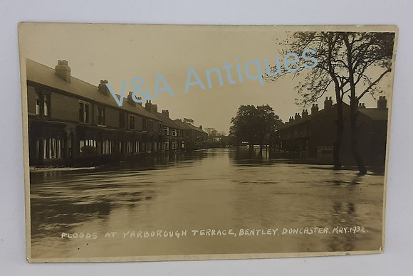 Bentley Floods 1932 Yarborough Terrace Doncaster RP