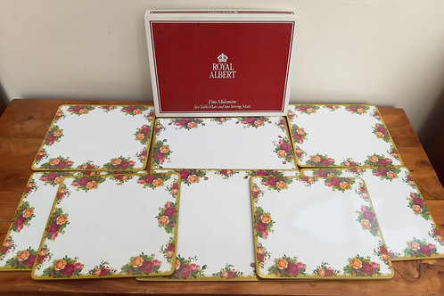 Royal Albert Old Country Roses 8pc Table Mat Set Boxed