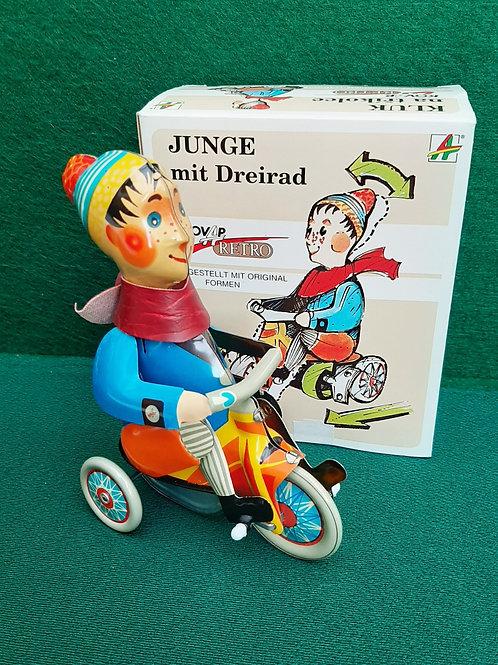 Kovap Tin Plate Boy on Tricycle