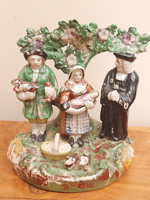 Antique Staffordshire Tithe Pig Group